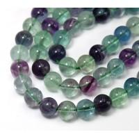 Rainbow Fluorite Beads, 8mm Round