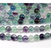 Rainbow Fluorite Beads, 6mm Round