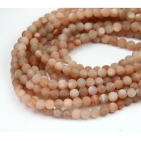 Matte Sunstone Beads, AA Grade, 6mm Round