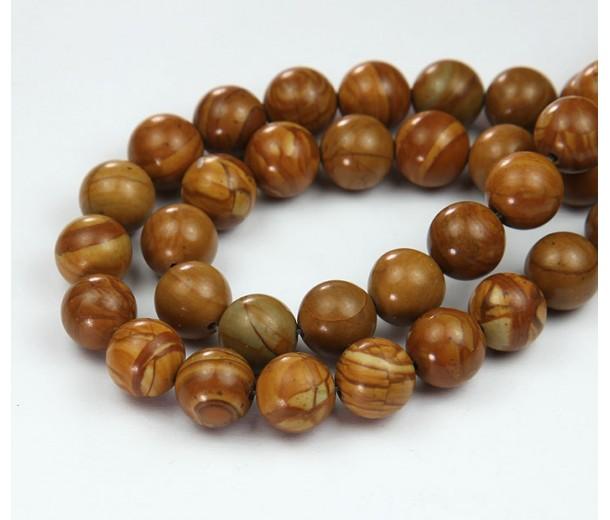 Wood Jasper Beads, 10mm Round