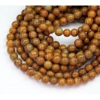 Wood Jasper Beads, 6mm Round