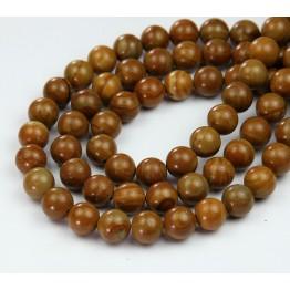 Wood Jasper Beads, 8mm Round