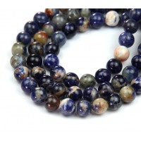 Orange Sodalite Beads, 10mm Round