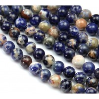 Orange Sodalite Beads, 8mm Round