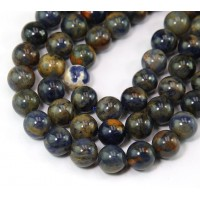 Dark Orange Sodalite Beads, 8mm Round