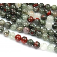 Bloodstone Jasper Beads, 10mm Round