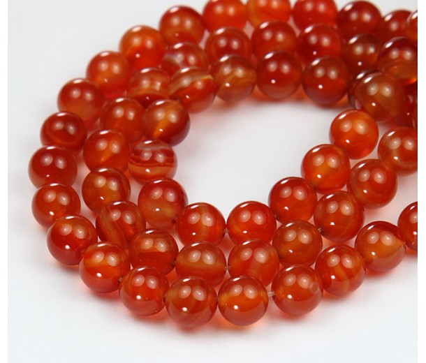 Carnelian Beads, Natural, 10mm Round