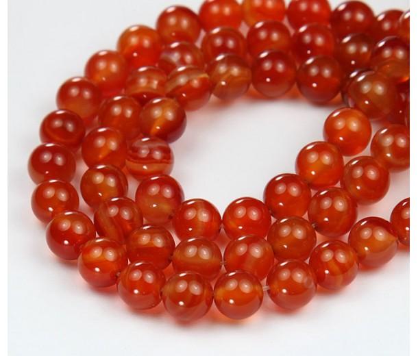 Carnelian Beads, 10mm Round