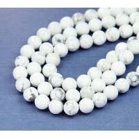 Howlite Beads, White, 6mm Round