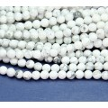 Howlite Beads, Natural White, 6mm Round, 15 Inch Strand