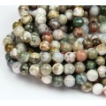 Ocean Jasper Beads, Earthy Mix, 8mm Round