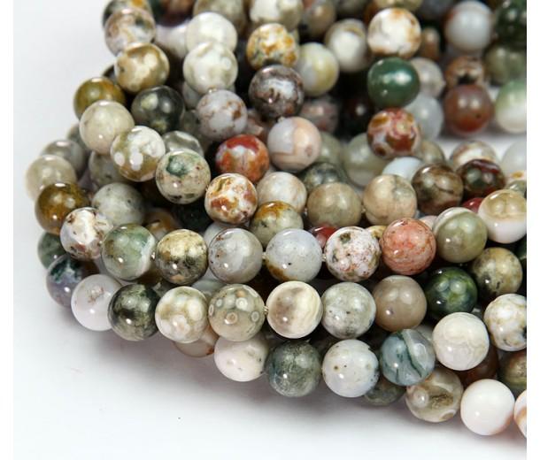 Ocean Jasper Beads, Earthy Mix, 8mm Round