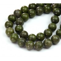 Dragon Blood Jasper Beads, 10mm Round