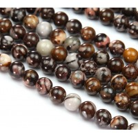 Australian Outback Jasper Beads, Natural, 8mm Round