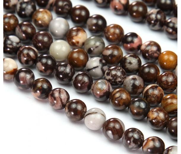 Australian Outback Jasper Beads, 8mm Round