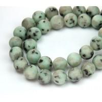 Matte Sesame Jasper Beads, 10mm Round