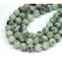 Matte Sesame Jasper Beads, 8mm Round