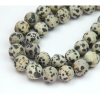 Matte Dalmatian Jasper Beads, 10mm Round