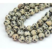 Matte Dalmatian Jasper Beads, 8mm Round