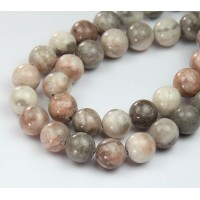 Pink Zebra Jasper Beads, Natural, 8mm Round
