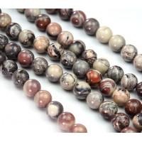 Porcelain Jasper Beads, 8mm Round
