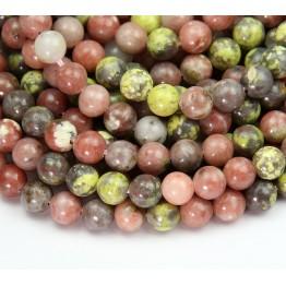 Pink Lepidolite Beads, 6mm Round