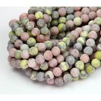 Matte Pink Lepidolite Beads, 6mm Round