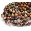 African Opal Beads, Natural, Brown, 8mm Round