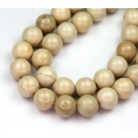 River Stone Jasper Beads, Shiny Natural, 10mm Round