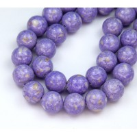 River Stone Jasper Beads, Lavender Purple, 10mm Round