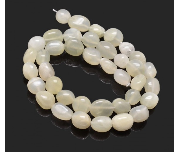 Moonstone Beads, Oval Nugget