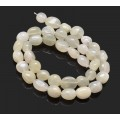 Moonstone Beads, Oval Nugget, 15 Inch Strand