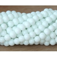 White Glass Beads, 6mm Smooth Round