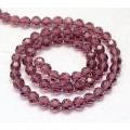 Light Amethyst Glass Beads, 8mm Faceted Round