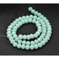 Milky Aqua Glass Beads, 8x6mm Faceted Rondelle