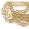 Glass Beads, Beige, 8mm Smooth Round