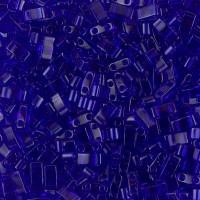 5mm Miyuki Half Tila Beads, Transparent Cobalt Blue, 10 Gram Bag