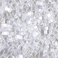 5mm Miyuki Half Tila Beads, Crystal Luster, 10 Gram Bag
