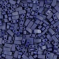5mm Miyuki Half Tila Beads, Matte Luster Cobalt Blue, 7.8 Gram Tube