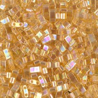 5mm Miyuki Half Tila Beads, Rainbow Light Gold, 10 Gram Bag