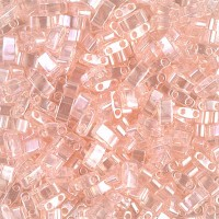 5mm Miyuki Half Tila Beads, Light Shell Pink Luster, 10 Gram Bag