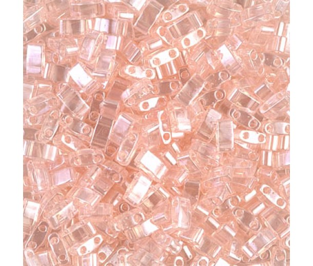 5mm Miyuki Half Tila Beads, Light Rose Luster, 7.8 Gram Tube