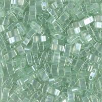 5mm Miyuki Half Tila Beads, Seafoam Green Luster, 7.8 Gram Tube