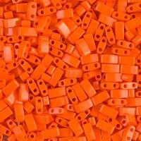 5mm Miyuki Half Tila Beads, Opaque Dark Orange, 10 Gram Bag