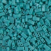 5mm Miyuki Half Tila Beads, Opaque Teal, 10 Gram Bag