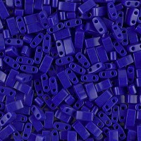 5mm Miyuki Half Tila Beads, Opaque Cobalt Blue, 7.8 Gram Tube