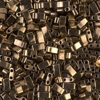 5mm Miyuki Half Tila Beads, Metallic Bronze, 10 Gram Bag