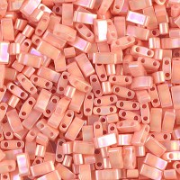 5mm Miyuki Half Tila Beads, Semi-Matte Opaque Salmon, 7.8 Gram Tube