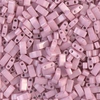 5mm Miyuki Half Tila Beads, Antique Rose Pink Luster, 7.8 Gram Tube