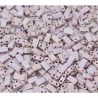 5mm Miyuki Half Tila Beads, Matte Rainbow Lavender, 10 Gram Bag